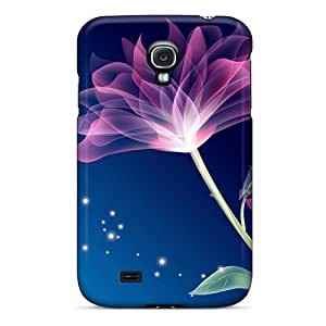 TZZ159zVlp Case Cover Abstract Flowers Galaxy S4 Protective Case