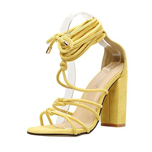 Fille Jaune Femme Sexy Talons Solide Femmes Tongs Sandales Chaussures Beautyjourney Strap Hauts Pour roman Gonflable Bottines Espadrilles xTBqnIa