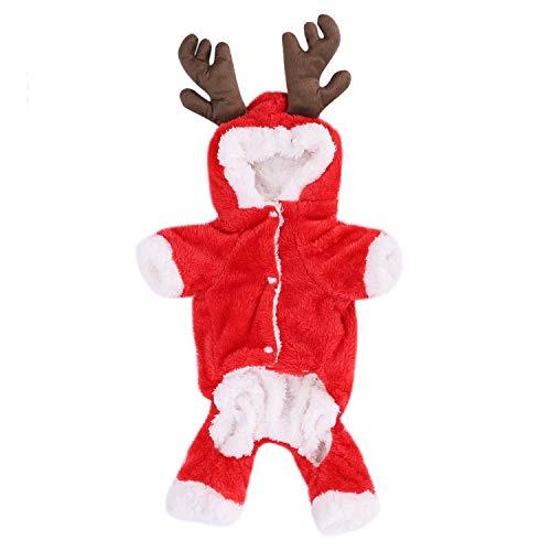 Pet Dog Christmas Costume Elk Clothes Dog Sweatshirts Halloween Moose Costume Dog Puppy Hoodie Coat Jacket Clothes Soft…
