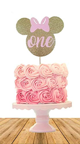 Minnie Mouse Inspired Birthday Cake Topper