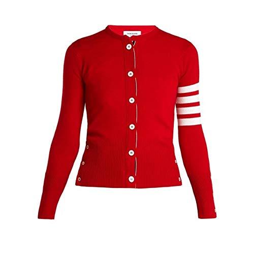 (トム ブラウン) Thom Browne レディース トップス カーディガン Round-neck cashmere cardigan [並行輸入品]