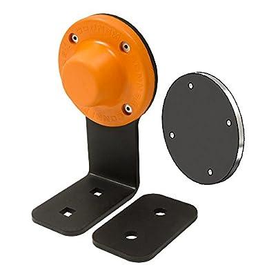 "MAG-MATE D3X1BKT Magnetic Door Holder/Stop with Bracket 27 lb. Hold, 2.75"" Height, 3.5"" width, 3.5"" Length, Black"
