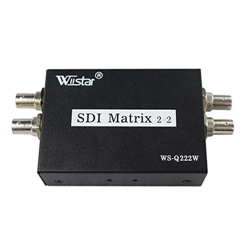 Hd Sdi Video - SDI Matrix 2 in 2 out HD SD 3G SDI Video Switcher Converter Support 1080p for HDTV Monitor