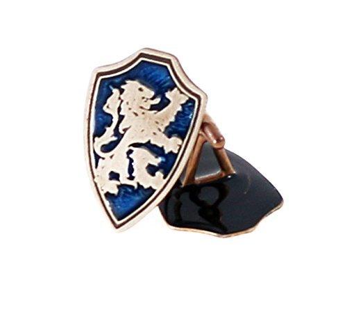 7c16cb5b28712 Amazon.com: Lion rampant brass cufflinks with blue inlay.: Handmade