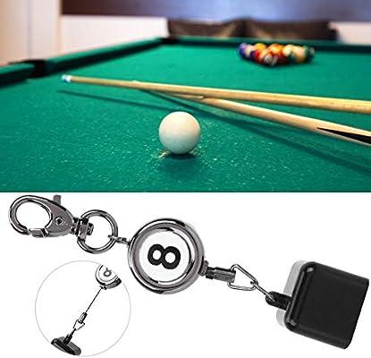 Alomejor Billar Cue Tiza Titular Snooker Pool Clip de cinturón de Dibujo retráctil Llavero Snooker Accesorios de Billar: Amazon.es: Deportes y aire libre