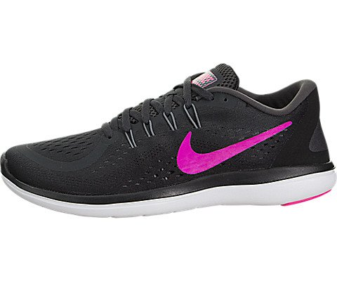 NIKE Women's Flex 2017 RN Running Shoe Black Metallic Hematite Anthracite Dark Grey Size 10.5 M US ?