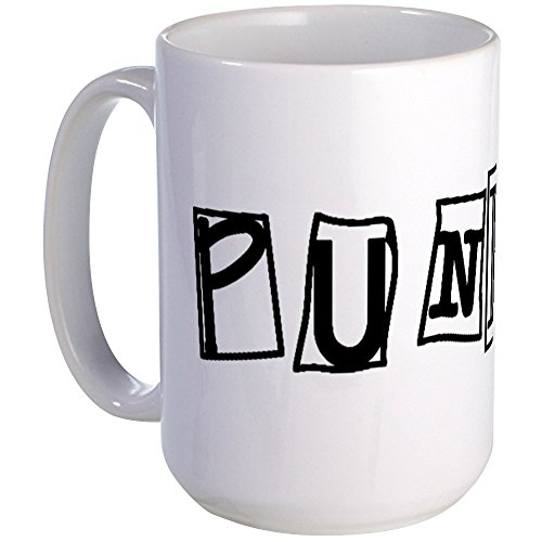 CafePress Punk Large Mug Coffee Mug, Large 15 oz. White Coffee Cup ()