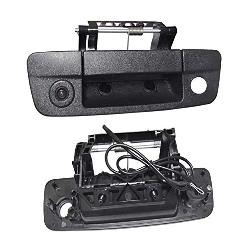 Weivision Tailgaters Replacement Black Tailgate Backup Reverse Handle Camera for Dodge Ram 1500 2009-2017 for Universal RCA Monitors
