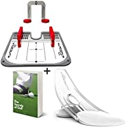 PuttOut Pressure Putt Trainer with Practice Putting Mirror Ultimate Set for Eyeline and Putting Alignment, Per