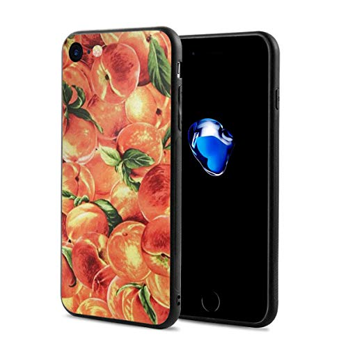 Midsummers Peach - iPhone 7 Case/iPhone 8 Case, Delicious Peach Slim-Fit Ultra-Thin Shockproof Skid Proof Anti Fingerprint Lightweight Protective Case Compatible for iPhone 7/8