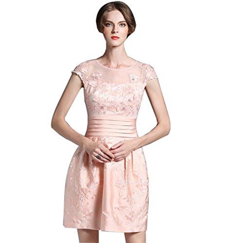 Ballgowns Scoop Pink Sleeveless Dresses Formal Neck Short Women`s cotyledon Zw8IEE