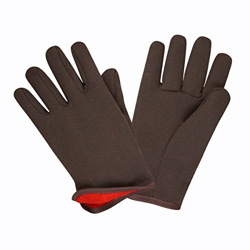 Cordova Safety Products 1600 Men's Cotton-Lined Jersey Gloves, Large, Red/Brown by Cordova Safety Products