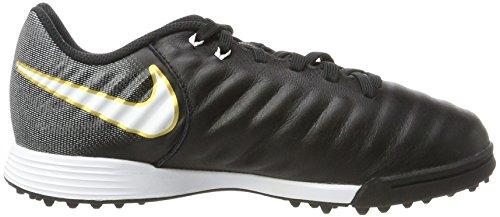 Nike Unisex-Kinder Jr. Tiempox Ligera Iv Tf Fußballschuhe Schwarz (Black/White-Black)