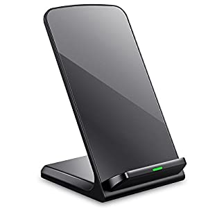 Turbot iPhone X Wireless Charger, 3-Coil QI Wireless Charging Pad Stand for iPhone X iPhone 8 iPhone 8 Plus, Samsung Galaxy Note8 S8 S8 Plus and all QI-Enabled Devices