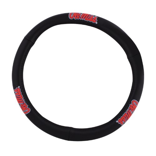 Pilot Alumni Group SWC-926 Leather Steering Wheel Cover (Collegiate Mississipi Ole - Ole Alumni Miss