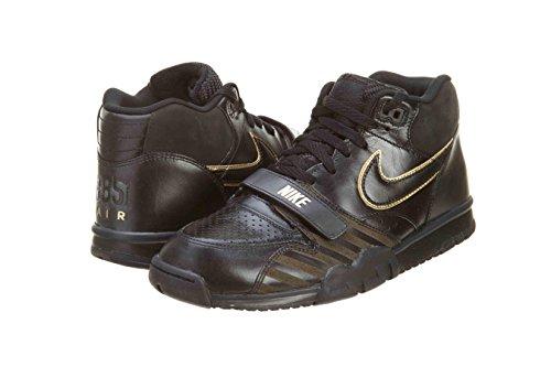 Nike Herren Tanjun Premium Schwarz Leder/Synthetik Sneaker Hellbraun (Wheat/Light Bone/Black)