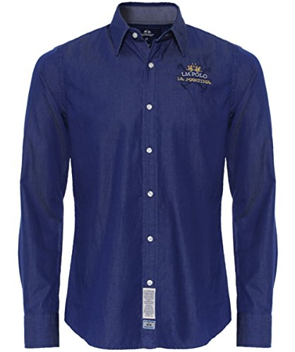 la-martina-slim-fit-bi-colour-twill-shirt-indigo-l