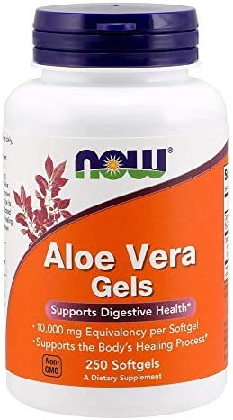 Now Foods Aloe Vera Gels, 10000 mg 250 Softgels
