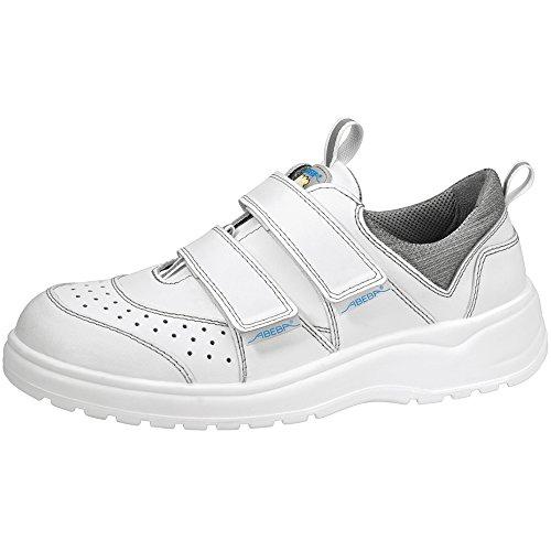 Abeba trabajo zapato de trabajo 1120 cuero transpirable bacteriostático antiestático CE blanco EN ISO 20347:2012 O1 FO SRA Blanco - blanco