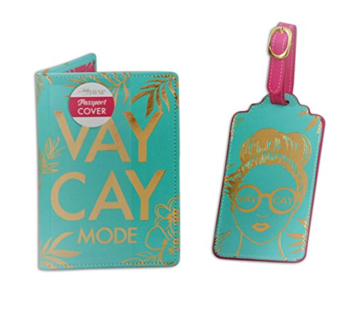 Lady Jayne Passport Case and Luggage Tag Set (Turquoise Vay Cay)