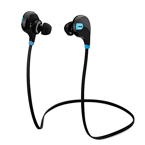 Mpow Swift Bluetooth 4.0 Wireless Sport Headphones Sweatproof Running Gym Exercise Bluetooth Stereo Earbuds Earphones Car Hands-free Calling Headsets with Microphone and High-fidelity Stereo Sound via apt-X for iPhone 6 6 plus 5S 4S Galaxy S6 S5 and iO...