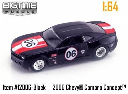 Jada Dub City Big Time Muscle Black Racing 2006 Chevy Camaro Concept 1:64 Scale Die Cast (2006 Chevy Camaro Concept Car)