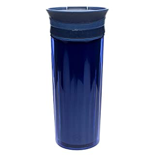 Zak! Designs Insulated Fluted Travel Tumbler in Indigo, BPA-free and Break-resistant Plastic, Double Wall Construction and Leak-proof Slide Lid, 16 oz. Capacity (B016S0IDHM) | Amazon price tracker / tracking, Amazon price history charts, Amazon price watches, Amazon price drop alerts