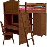 Cooley Sleep Study Storage Loft Bed Finish: White