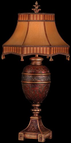 Fine Art Lamps 305010, Brighton Pavillion Tall 3 Way Table Lamp, 1 Light, 150 Total Watts, Bronze
