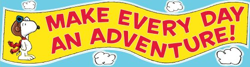 Eureka Peanuts Motivational Classroom Banner, Flying Ace, 12 x 45""