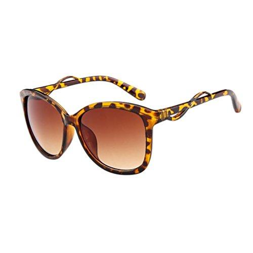 Sunglasses 6 Unique Soleil Casual Adeshop Lunettes De Rétro À Thé Femmes Cadre Grand Motif Mode Couleurs Léopard Conception Hommes 4dXqd