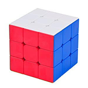 Speed Cube, Bangcool Magic Cube Set 3x3 2x2 Pyraminx Pyramid Twisty Rubix Puzzles Cube Toys, Smooth Corner Cutting Turns Quicker Stickerless for Beginners or Puzzle Enthusiasts