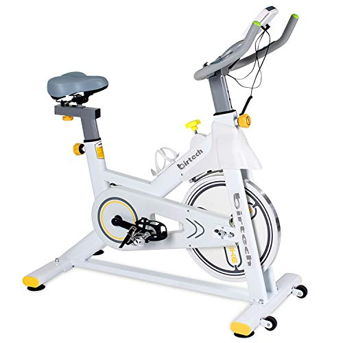 Exercise Bike,Pro Indoor Cycling Bike Trainer Quiet Smooth Belt Drive Spin Bike with Magnetic Resistance Exercise Stationary Bike with LCD Monitor for Home Cardio Workout