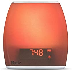 Bedside Sleep Therapy Machine Sleep Better & Longer, Zen Light & Sound Therapy Machine, Calming, Soothing Sounds, Soft Lighting, Bluetooth Music Light Therapy Sound Machine