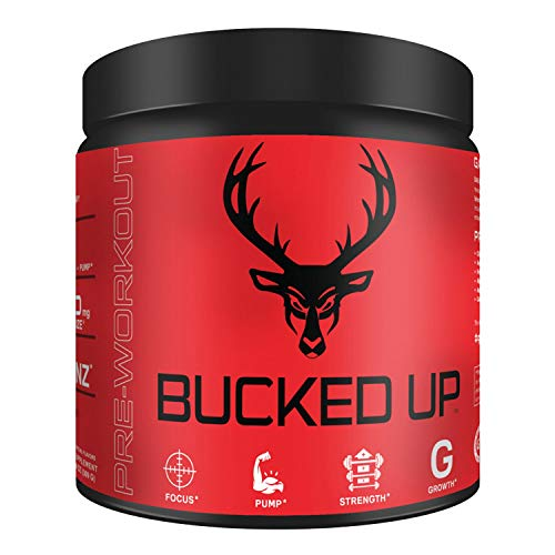 Bucked Up Pre Workout Strawberry Kiwi – 6 Grams Citrulline, 2 Grams Beta Alanine Non Proprietary Blend