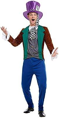 Smiffys Mad Hatter Costume Disfraz de Sombrerero Loco, multicolor ...