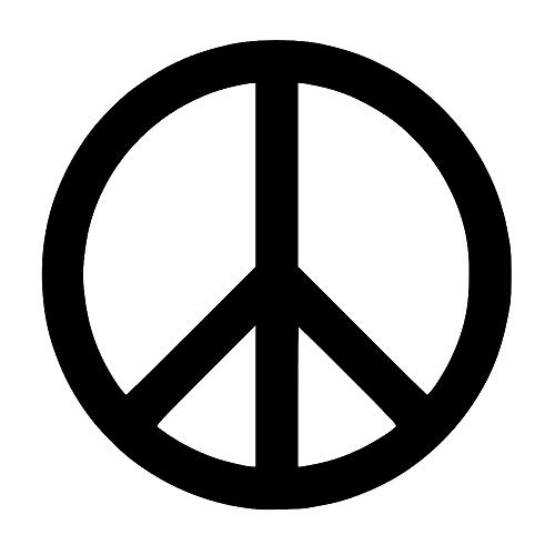 Peace Sign Symbol [Pick Any Color] Vinyl Transfer Sticker Decal for Laptop/Car/Truck/Window/Bumper (3in x 3in (Laptop Size), Black) -