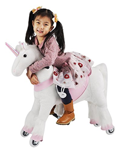 Girl's Gift Mechanical Ride on Unicorn Simulated Horse Riding on Toy Ride-on Pony Cycle :More Comfortable Riding with Gallop Motion for Kids 3-6 Years by Gidygo