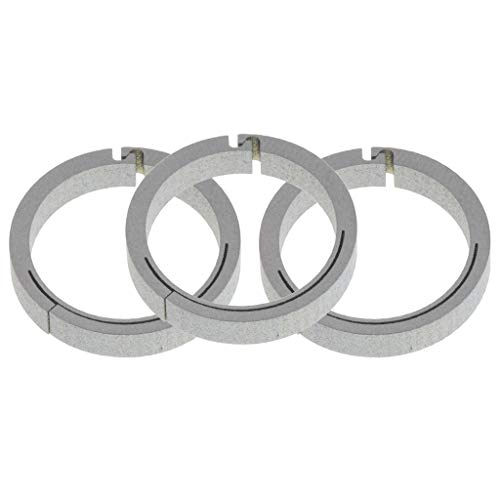 (SM SunniMix 3pcs Titanium Spring Clip Round Carabiners Push Open Gate O Ring Snap Clip Keyring Buckle for Organizing Accessories - Multicolor, 18mm Silver)