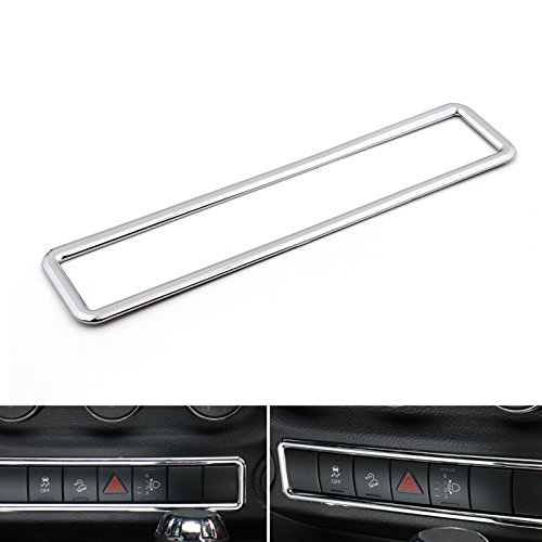 Areyourshop Chrome Emergency Light Switch Cover Frame Trim For Jeep Wrangler 2011-2015