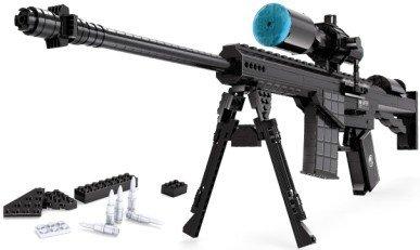 Ausini Simple Package Compatible Building Bricks Set Gun Model Sniper Rifle M107 Building Blocks Toy 527 pieces - Gun Sniper Set