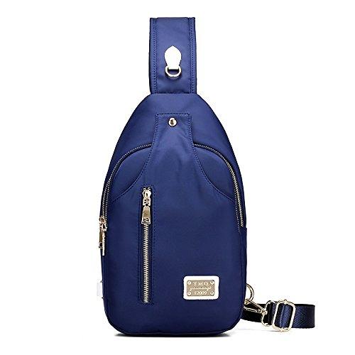 Nylon Azul para de Negro Morado de Mujer Azul Negro Bolsos de Casual GMYAN Hombro Bolso Honda 7q8Zxzfw