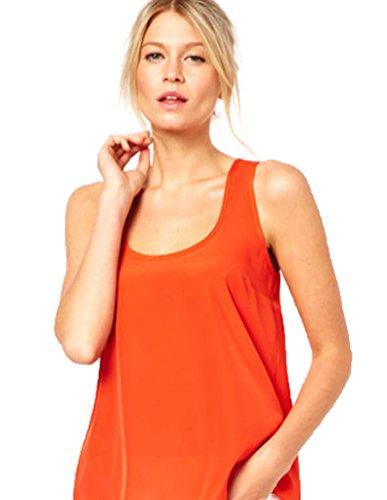aimerfeel las mujeres de encaje negro o naranja con estampado de flores en la parte posterior, el tamaño 2XL-40-42 naranja