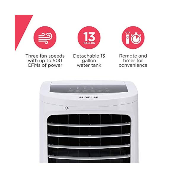 FRIGIDAIRE Portable Evaporative Air Fan and Humidifier, Personal Indoor Outdoor Swamp Cooler, 500 CFM, Ec400wf
