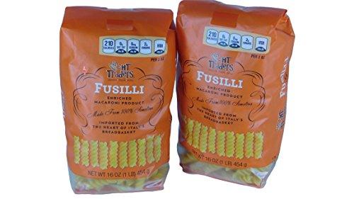 HT Traders Imported Italian Fusilli Enriched Macaroni Pasta (2 x 16 oz.. 908 g)