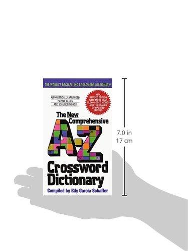 New Comprehensive A-Z Crossword Dictionary: Edy G Schaffer