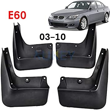 Set of 4 Front and Rear Splash Guard Mud Flaps for Audi Q7 2010-2015