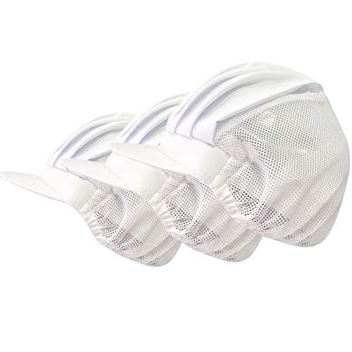Cityelf Chef Hat Unisex Adjustable Mesh Kitchen Restaurant Workshop Protective Hats Hair Net Cooking Hair Control Caps 3pcs