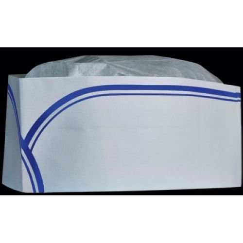 Cellucap Low Profile Round Crown Style Blue Strip Overseas Cap -- 1000 per case.