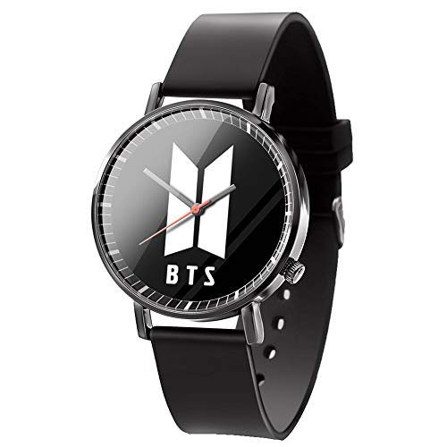 Cianowegy Kpop BTS Watch Love Yourself Answer & MAP of The Soul: Persona Quartz Watch Wristwatches Unisex Clock Photo Interface Gift Set for BTS Kids Girls Army